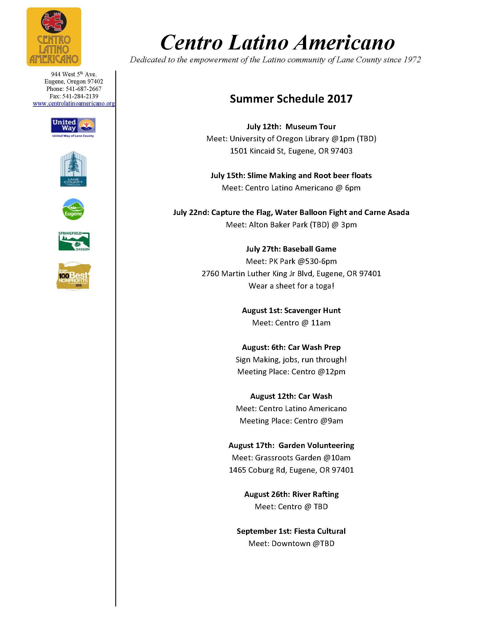 Centro Latino Americano Mentoring Summer Session 2017